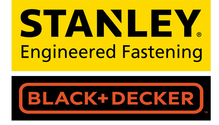 The logos of Stangley and Black+ Decker
