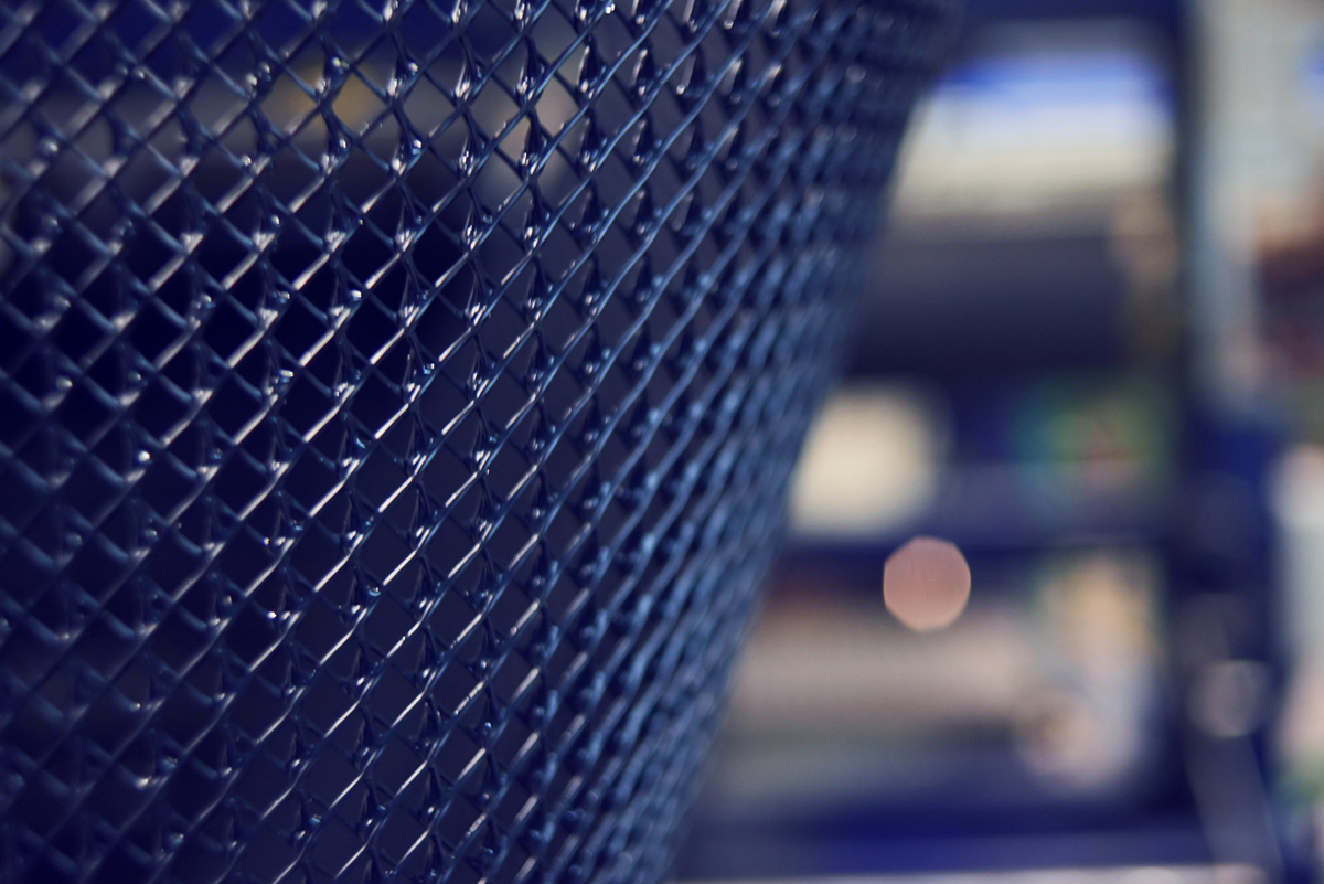 Zoom on a blue mesh roll